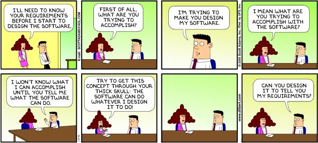 Humor - Cartoon: Even the best business analysts can get frustrated with the stakeholders…