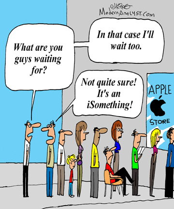 "Humor - Cartoon: It's funny when stakeholders want something because it could be a ""nice"" feature"