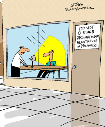Humor - Cartoon: When the Business Analyst takes the job too seriously!